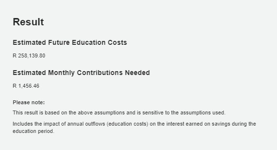 education calculator